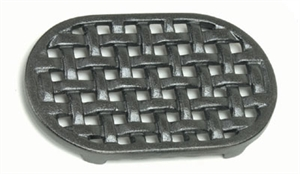 Picture of 5-3/4'' x 9-1/4'' Oval Cast Iron Matte Black Trivet