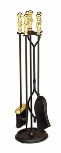 Picture of 4 pc. Tool Set - Ball Handle - Round Base - Brass Plated & Black