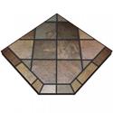"""Picture of Asian Slate Corner Stove Board, 40"""" x 40"""""""